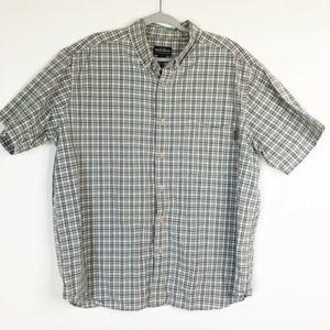 Woolrich Short Sleeve Button Front Shirt 2XL Plaid